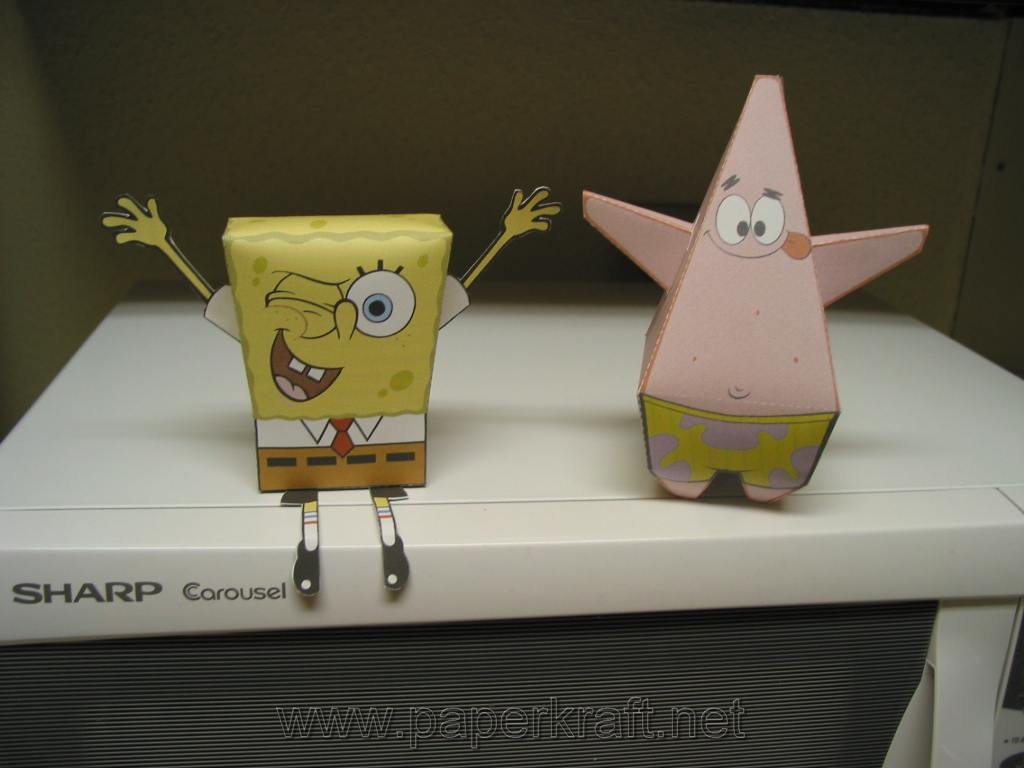 spongebob squarepants the paper Four full years ago, i started the spongebob papercraft collection with patrick star, the first craft using a new technique that allowed rounder shapes and less.
