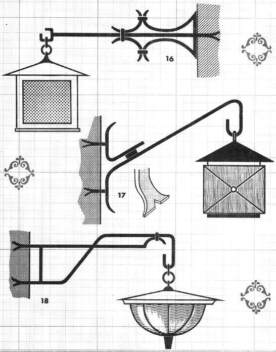au soufflet de forge potence luminaire. Black Bedroom Furniture Sets. Home Design Ideas