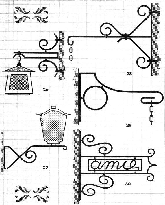 au soufflet de forge potence luminaire enseigne. Black Bedroom Furniture Sets. Home Design Ideas