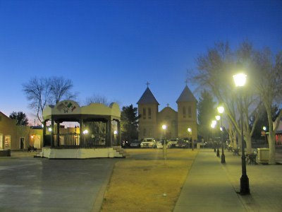 Old Mesilla Square at Twilight