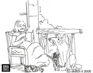 Christina on her porch