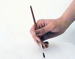 pincel pintando. pintando tu retrato. \u201c pincel