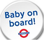 Baby on Board the underground