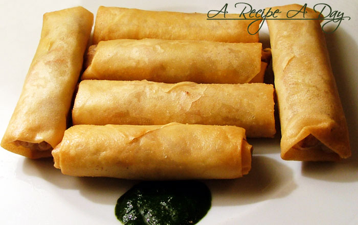 how to prepare veg spring rolls