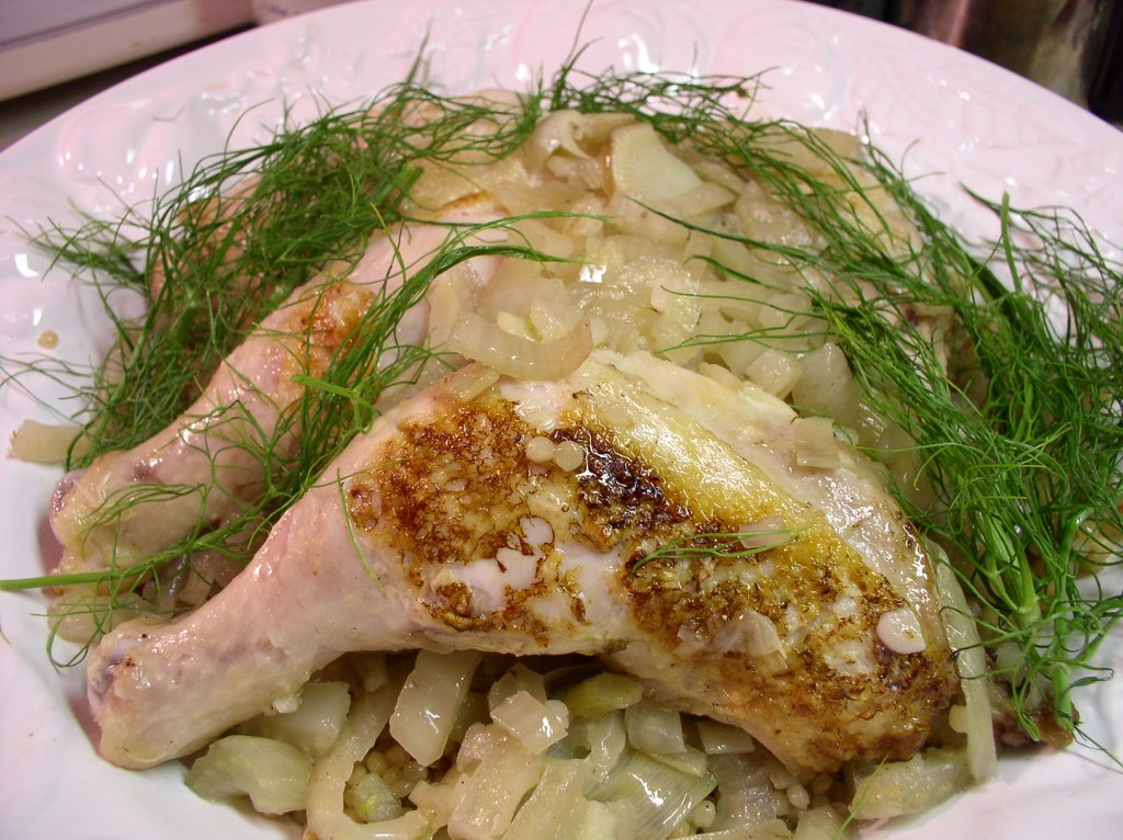 What I Made for Dinner: Leek and fennel braised chicken ...
