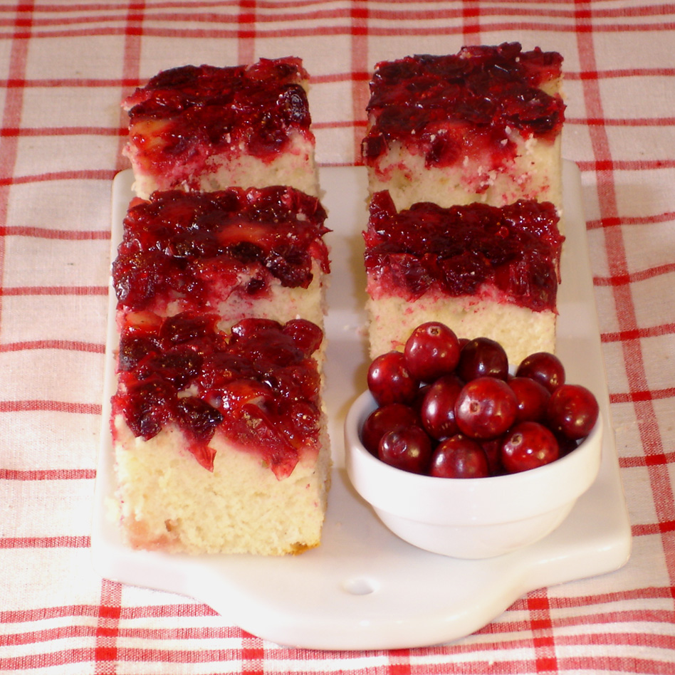 ... city: Gâteau à l'envers aux canneberges - Cranberry upside down cake