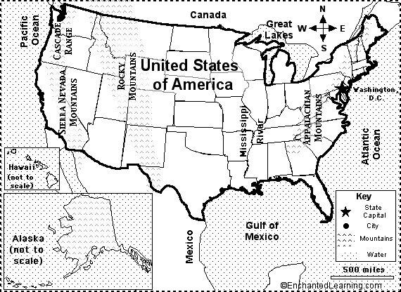 Oregonkenshu Map Of The Usa Quiz Usa Map 1600