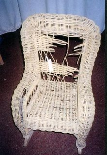 Wicker Repair Article in October Collector's Journal