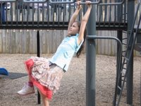 Lauren on the monkey bars