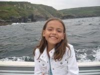 Lauren on the boat