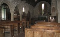 The inside of the church at Zennor