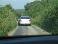 A single lane Cornish road