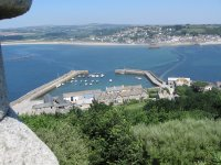 View of Saint Michael's Mount harbour from the chapel