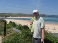 Mark overlooking Hayle estuary