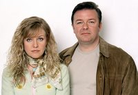 Ashley Jensen and Ricky Gervais