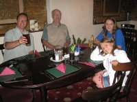 Mark, Grandad and the girls in a pub