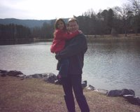 Mark & Lauren at Lake Tomahawk