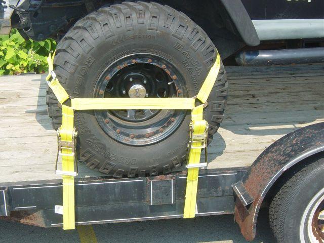 Auto Tie Down Wheel Straps For Take 3 Kaufman Etc Car Hauler News