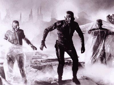 The 'dead' crewmen of the Argos emerge from their graves on Argos