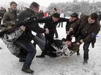 Избиение сторонников Милинкевича в Бресте