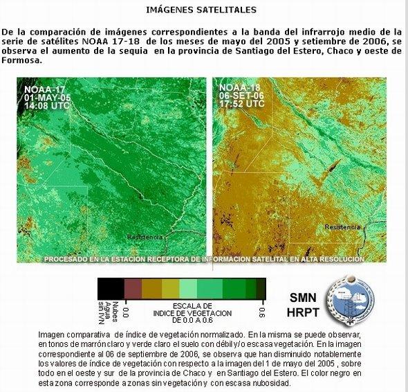 Sequía - Imagen obtenida en la página del Servicio Meteorológico Nacional de Argentina
