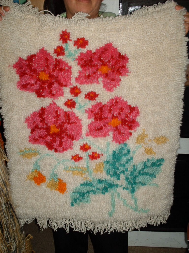 Taller de artesania en lana alfombra for Alfombra lana