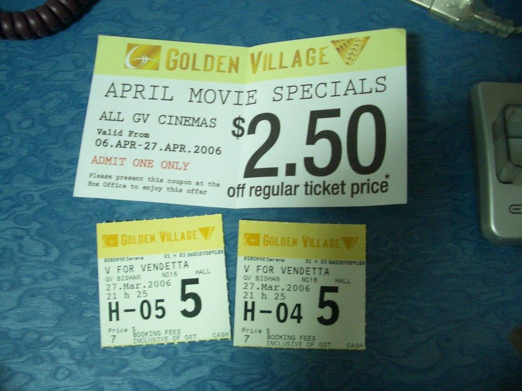 Golden Village Movie Club turns 10- Great Deals Singapore
