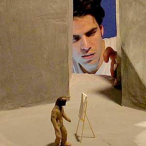 Juan Pablo Etcheverry durante la realización de Minotauromaquia