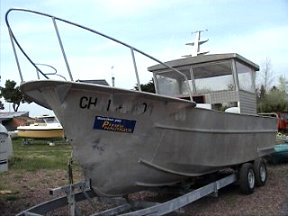 bateau de peche aluminium d'occasion