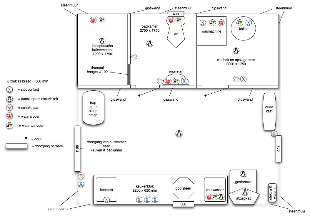 L 39 ecurie de courtioux versie 1 van de tekening van keuken for Badkamer tekening maken