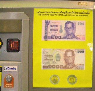 เครื่องจ่าย ภาษีท่าอากาศยาน Thailand airpot tax machine