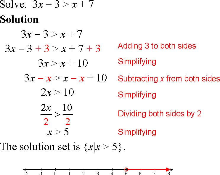 Linear Equations And Inequalities Worksheet - Kidz Activities