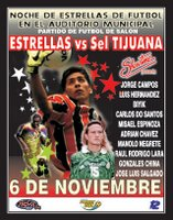 flyer de futbol en el auditorio municipal