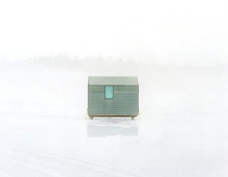 Ice Fishing Shacks by Scott Peterman