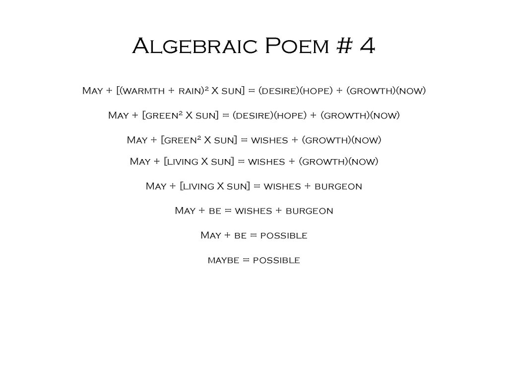 How to Write a Mathematical Poem