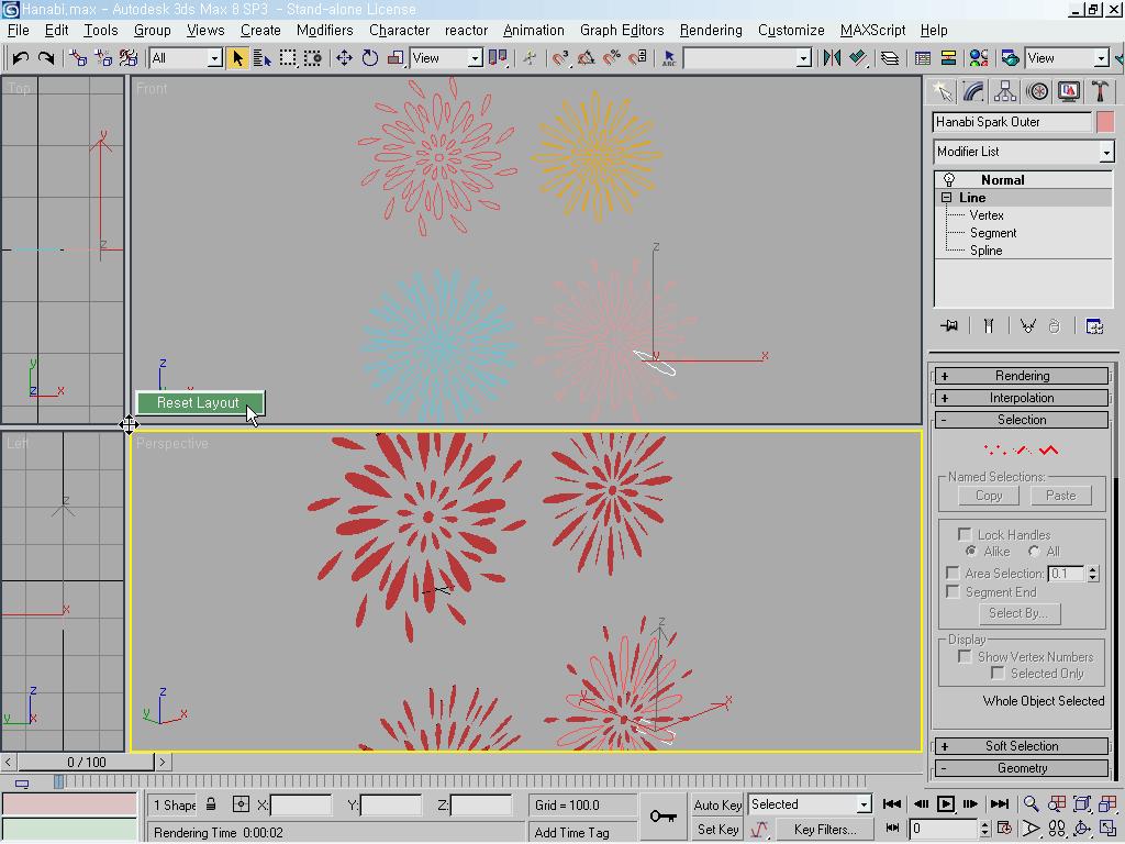 3ds Max: 2D Illustration; Fireworks - Hanabi