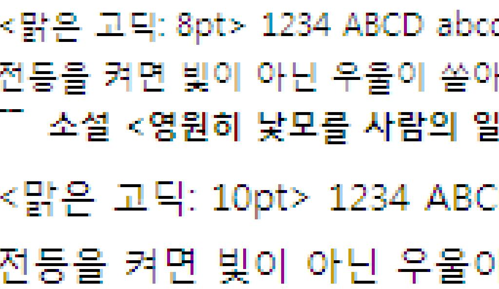 클리어타입(ClearType)