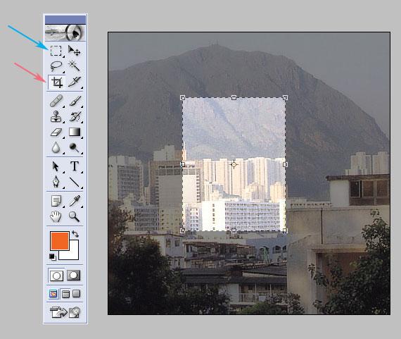 포토샵: 사진/그림의 특정 부분만 자르기: Crop Tool