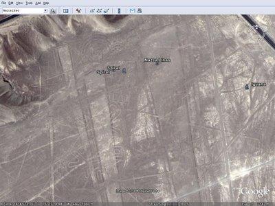 나스카 평원의 그림 (Nazca Lines) - Google Earth