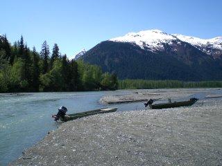 Looking upstream on the Tsirku