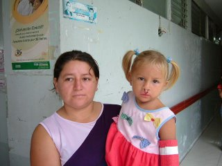 Jemma and her mom, Portoviejo, Ecuador, Dec. 2004