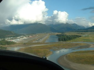 Landing at the Juneau Airport