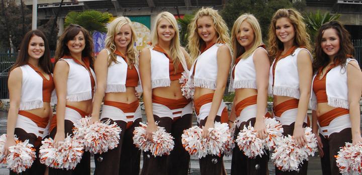University Of Texas Cheerleaders Chaps