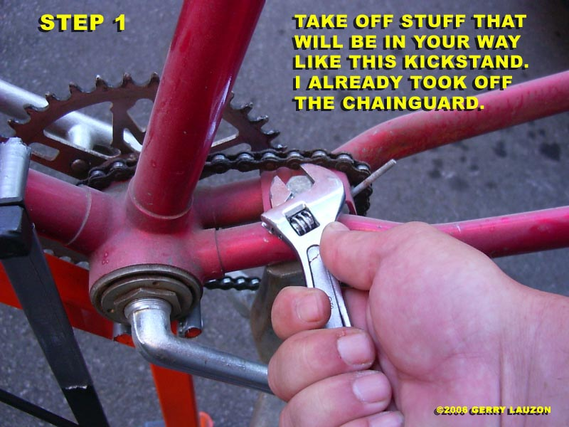 BB2 great canadian bike overhaul removing the one piece crank from the