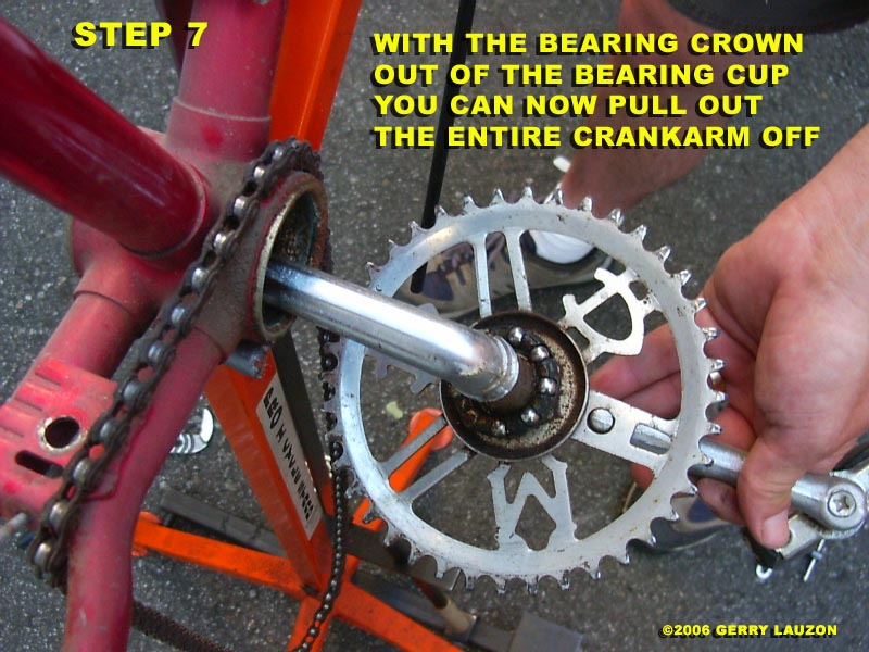 BB8 great canadian bike overhaul removing the one piece crank from the