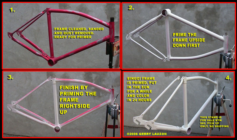 Free advice on how to fix your bicycle: HOW TO REPAINT YOUR BICYCLE