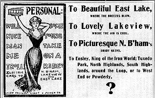 Birmingham Trolley Advertisement