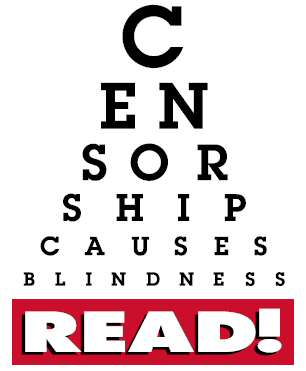 Censorship causes blindness eye chart