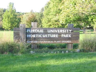 Purdue University Horticulture Park Sign