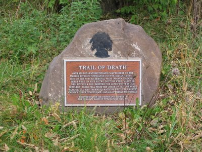 Potawatomi Indian Death March Marker